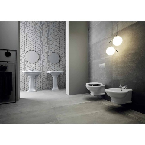 Washbasin Wall or with Ceramic Column L70cm Made in Italy Avise