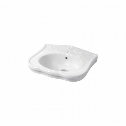 Wall-mounted or with column sink in ceramic 70cm Made in Italy Avise