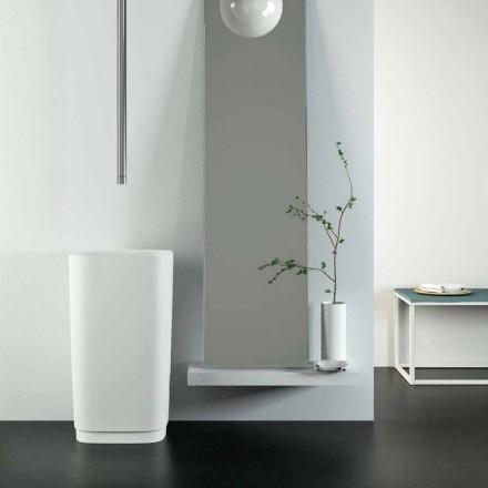 Design freestanding circular floor washbasin made in Italy, Lallio