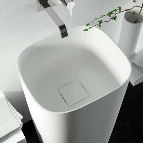 Freestanding circular freestanding floor washbasin made in Italy design, Lallio