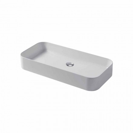 Design countertop sink in ceramic Made in Italy Leivi