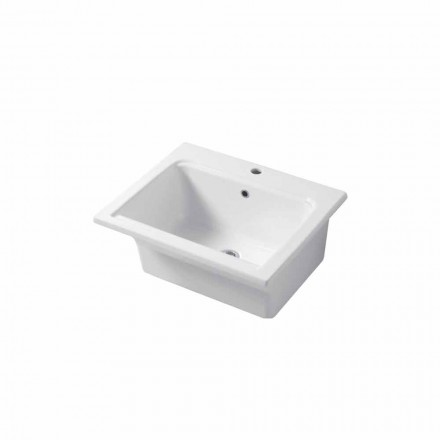 Modern design sink countertop and  wall insert in ceramic Satri