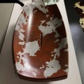Ceramic countertop basin Laura with cowhide pattern, made in Italy