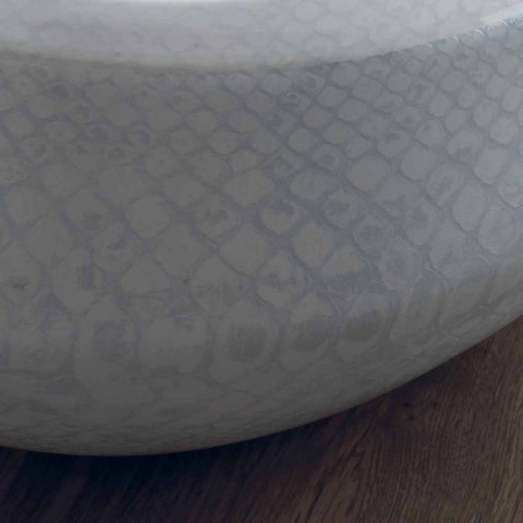 Countertop design washbasin in python ceramic made in Italy Elisa
