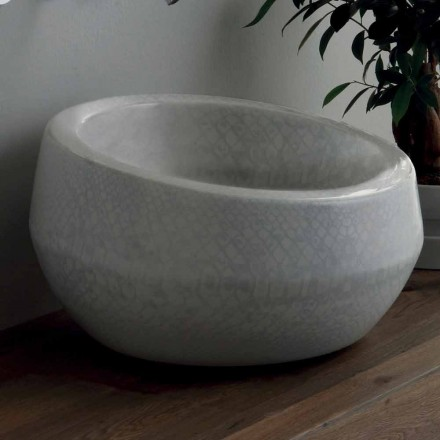 Design countertop washbasin in python ceramic made in Italy Elisa