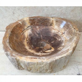 Hand made design sink in Star Big fossil wood