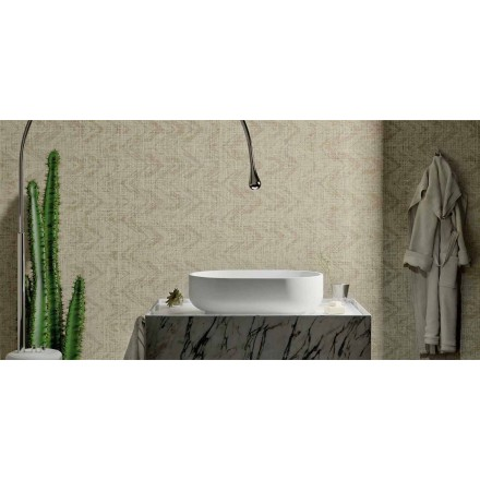 Modern design countertop washbasin in Solid Surface, Formicola