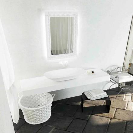 Modern design countertop washbasin Taormina Maxi, made in Italy