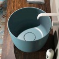 Countertop circular washbasin produced 100 % in Italy, Lallio