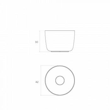 Freestanding circular freestanding washbasin produced in Italy, Lallio