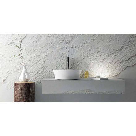 Modern design circular washbasin, made 100 % in Italy, Desana