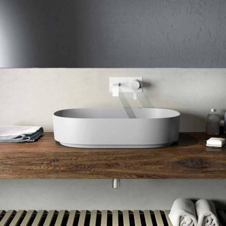 Modern design countertop washbasin made  100 % in Italy, Formicola