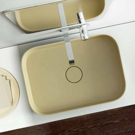 Modern design colored washbasin made 100 % in Italy, Formicola