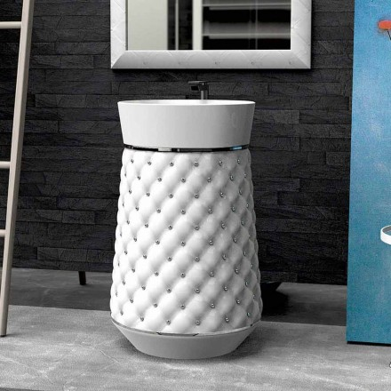 Modern design free-standing washbasin made of Solid Surface Elizabeth