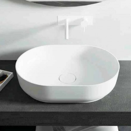 Design freestanding bathroom washbasin made in Italy Dalmine Medium