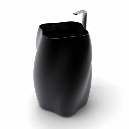 Modern free-standing washbasin made of Solid Surface Flower