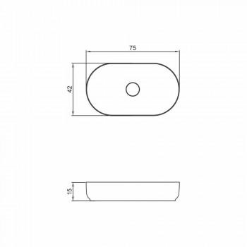 Design oval freestanding washbasin made in Italy Dalmine Big
