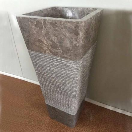 Natural grey stone design freestanding basin Taffy, unique  piece