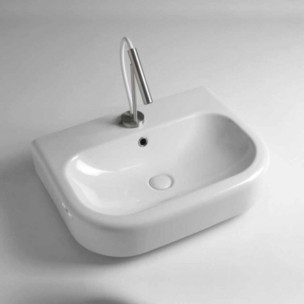 Vintage Design Ceramic Countertop Washbasin Made in Italy - Radiolino