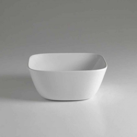 Made in Italy Design Square Countertop Ceramic Washbasin - Sonne