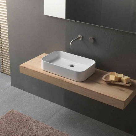 Modern Design Rectangular Countertop Ceramic Washbasin - Tangulo
