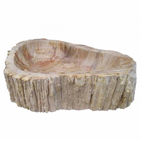 Wood Fossil sink countertop Goa single piece