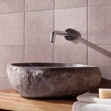 Handcrafted Countertop Washbasin in Pietra di Fiume - Aurea