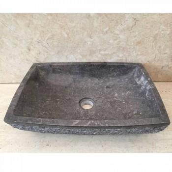 Jero dark gray countertop natural stone washbasin, design