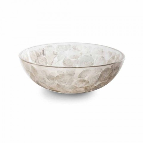 Countertop Resin Washbasin with Modern Mother of Pearl Inserts - Salvatore