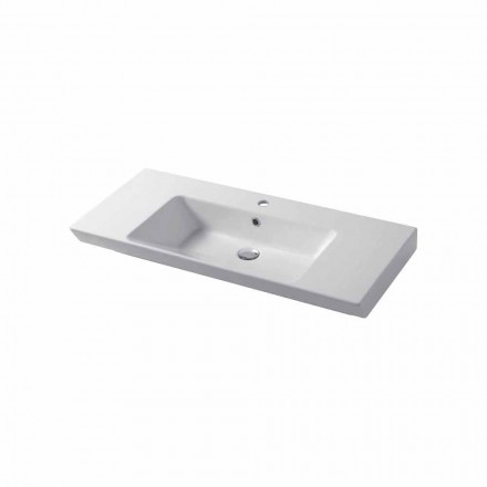 Modern sink wall-mounted and  wall insert in colored ceramic Maida