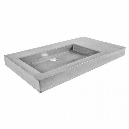 Modern handmade countertop washbasin in polished cement Rivoli
