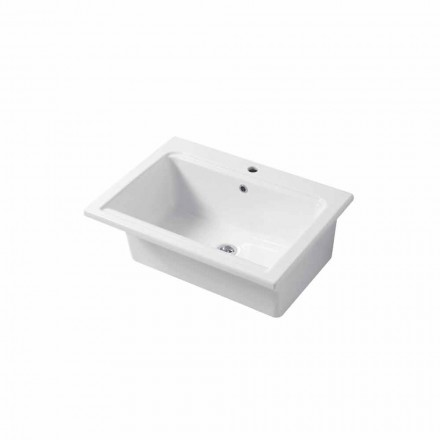 Modern single hole sink in white or colored ceramic Panama