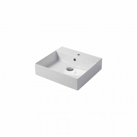 Single hole countertop or wall-mounted sink in colored ceramic Leivi