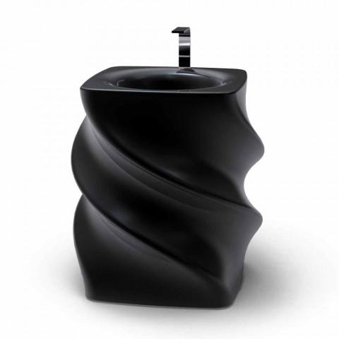 Black freestanding sink Twist modern design made in Italy