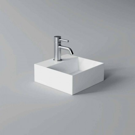 Square or Rectangular Modern Design Ceramic Wash Basin Made in Italy - Act