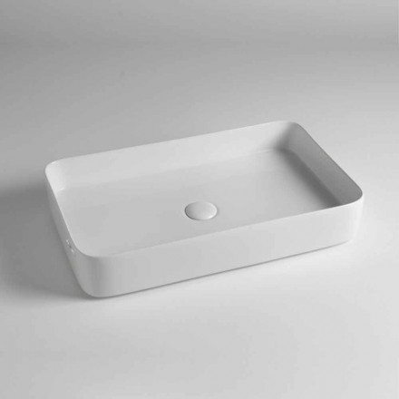 Rectangular Countertop Washbasin in Colored Ceramic Made in Italy - Dable
