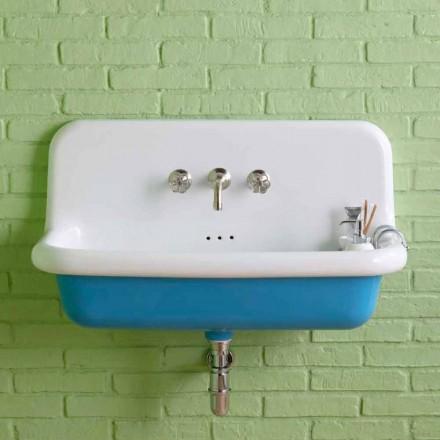 Henry vintage rectangular wall-mounted ceramic washbasin