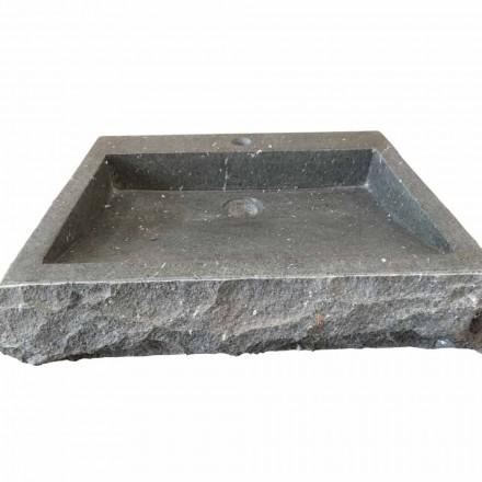 Handmade natural andesite stone washbasin Nisa, modern design