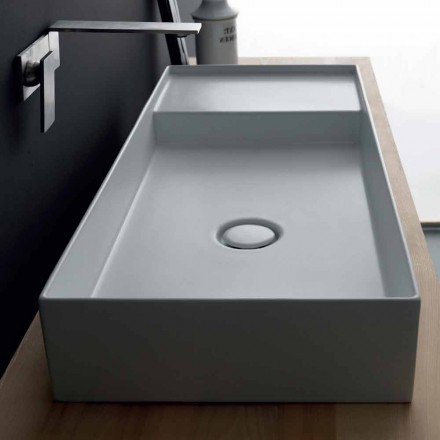 Matt white ceramic countertop wash basin Icon by Alice Ceramica