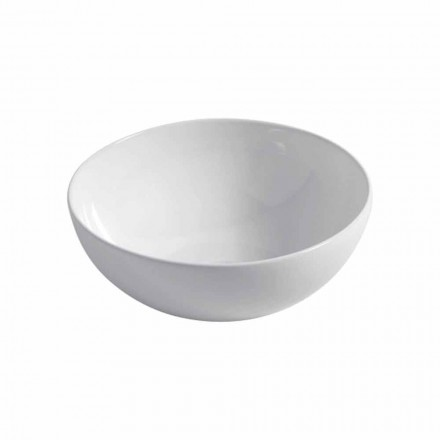 Countertop spherical ceramic sink Ø40cm Made in Italy Leivi