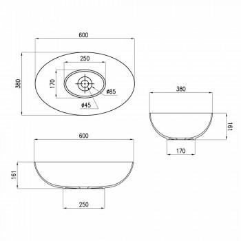 Spherical Ceramic Countertop Washbasin Ø60cm Made in Italy Leivi