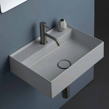 Sun ceramic suspended washbasin 50x35 cm, different colors available