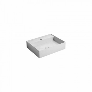 Suspended ceramic washbasin Sun 50x35 cm, different colors available
