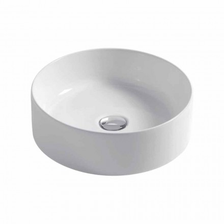 Spherical  sink in white or colored ceramic Ø40cm Leivi
