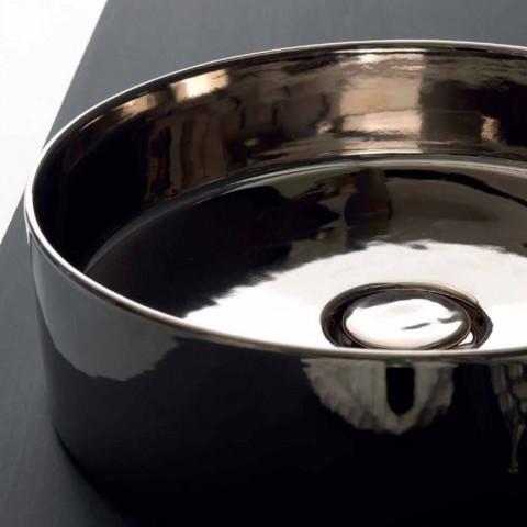 Round washbasin colored ceramic bearing Icon Alice Ceramics