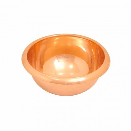 Countertop washbasin made of copper Alba, handmade