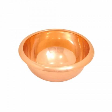 Round washbasin copper backing, handmade, Alba