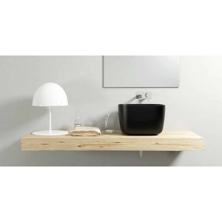 Modern design countertop basin sink made 100 % in Italy, Lallio