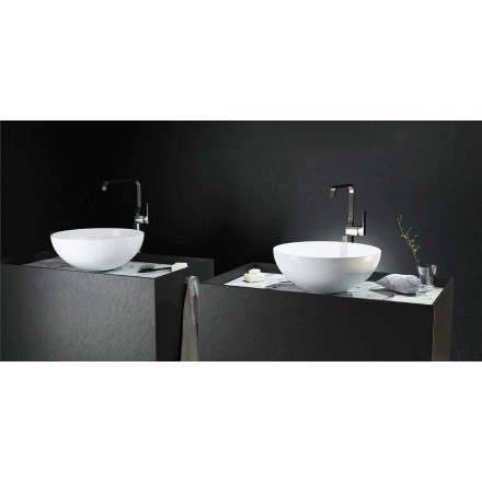 Modern design countertop circular sink made 100 % in Italy, Donnas