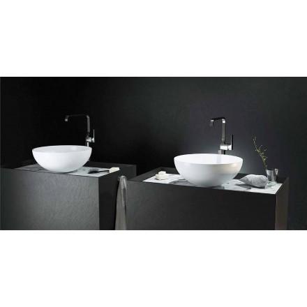 Modern design countertop circular sink made 100 % in Italy, Donnas